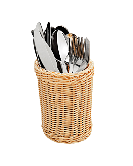 round cutlery baskets Ø 11,5x15 cm natural pp (6 unit)