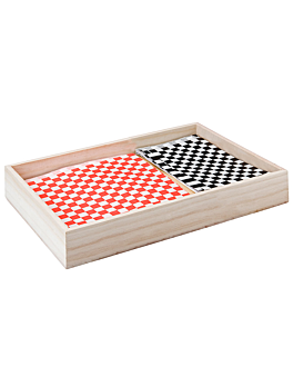 cassa presentazione buffet 37x30x10 cm naturale legno (1 unitÀ)