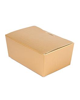 100 u. boÎtes 'ballotin' 250 gr 11,5x7,5x5 cm dore carton (1 unitÉ)