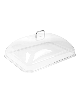 dome cover 31x41,5x13 cm clear polycarbonate (1 unit)