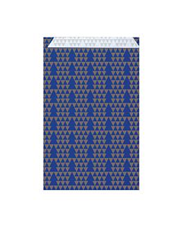 bolsas planas abetos 60 g/m2 19+8x35 cm azul celulosa (250 unid.)