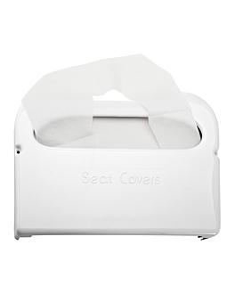 toilet seat cover dispenser 41,5x29x6 cm white abs (1 unit)