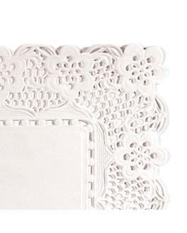 blondas rectangulares calados antigrasas 40 g/m2 45x36 cm blanco perg. antigrasas (250 unid.)