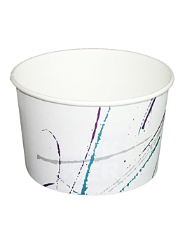 tarrinas helados 'volare' 150 ml Ø 8,5x4,5 cm blanco cartÓn (2000 unid.)