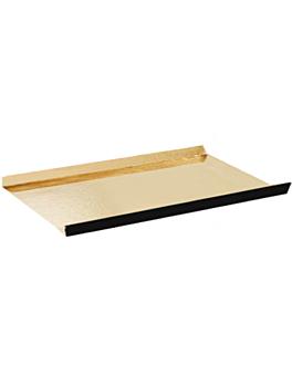 lipped-2 sided bases 380 g/m2 13x4,5+1,5 cm gold/black cardboard (200 unit)