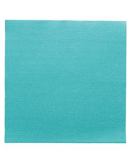 ecolabel napkins 'double point' 18 gsm 39x39 cm turquoise blue tissue (1200 unit)
