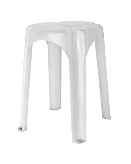 taburete de baÑo Ø 32x44 cm blanco pp (1 unid.)