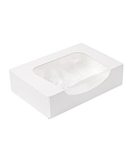 contenitori sushi+finestra 'thepack' 230 g/m2 + opp 17,5x12x4,5 cm bianco cartone ondulato a nano-micro (400 unitÀ)