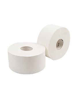 "higiÉnicos ""baby jumbo"" ecolabel 2 capas - 160 m 17 g/m2 Ø19,5x9,5 cm blanco tissue (12 unid.)"