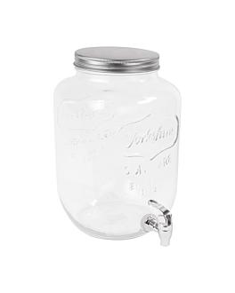 dispensador bebidas 8 l Ø 19,5x31 cm transparente cristal (1 unid.)