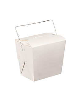 containers with handles 780 ml 300 + 18 pe gsm 8x7 cm white cardboard (500 unit)