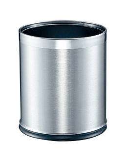 room paperbin 'deluxe' 9 l Ø 22,5x27 cm silver stainless steel (1 unit)