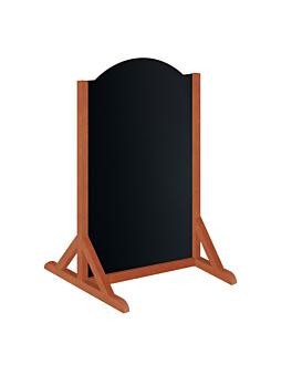 pizarra de pie 68,5x61x119 cm negro madera (1 unid.)