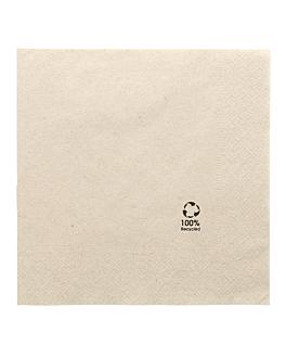 serviettes ecolabel 2 plis 18 g/m2 39x39 cm naturel ouate recyclÉe (1600 unitÉ)