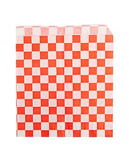 sachets ouverts 2 cÔtes 'fitipaldi' 34 g/m2 13x14 cm rouge parch.ingraissable (1000 unitÉ)