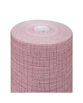 """""""tÊte À tÊte"""" pre. 120cm (20 ser.) 'dry cotton' 55 gsm 0,40x24 m burgundy airlaid (6 unit)"""