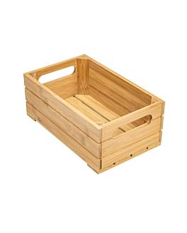 scatola buffet gn 1/4 26,5x16,2x10 cm naturale bambÙ (1 unitÀ)