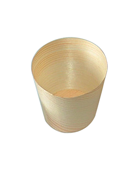 pine bark mini cups 30 ml Ø 6x6 cm natural wood (50 unit)
