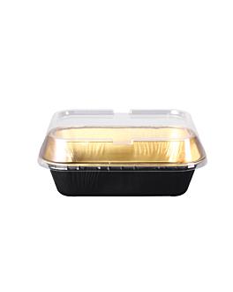recipienti pasticceria 280 ml 13,5x10,2x3,5 cm oro nero alluminio (100 unitÀ)