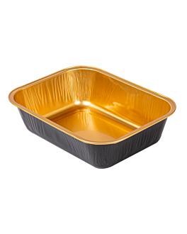 recipientes pastelerÍa 280 ml 13,5x10,2x3,5 cm oro/negro aluminio (100 unid.)