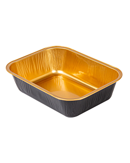 bakery containers 280 ml 13,5x10,2x3,5 cm gold/black aluminium (100 unit)