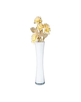 giant decoration - vase Ø 14/17x60 cm white glass (1 unit)