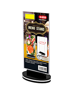 rotating menu stands straight 10x20 cm clear ps (30 unit)