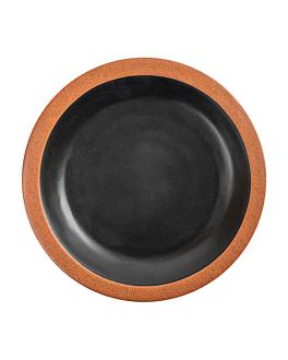 teller 180 ml Ø16x2 cm schwarz melamin (12 einheit)