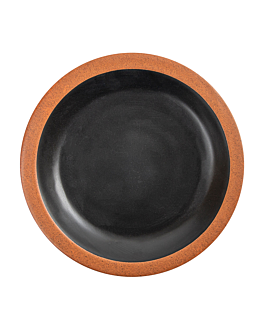 dishes 180 ml Ø16x2 cm black melamine (12 unit)
