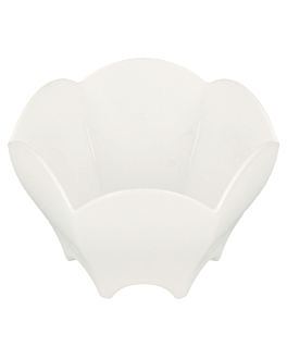 tulip containers for appetisers Ø 6,3x4,4 cm white ps (600 unit)