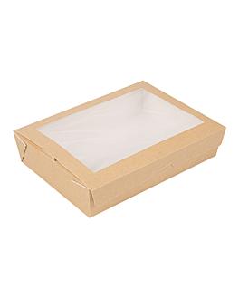 scatole con finestra 'thepack' 1470 ml 220 g/m2 + opp 19,8x14x4,8 cm naturale cartone ondulato a nano-micro (200 unitÀ)
