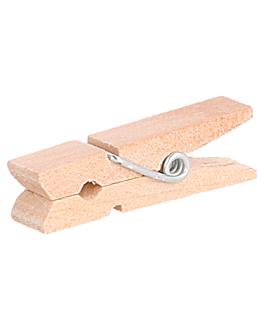 pinzas 3,5 (h) cm natural madera (100 unid.)