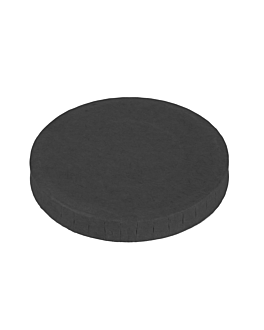 lids for small containers 230 + 18 pe gsm Ø6,2 cm black cardboard (1000 unit)