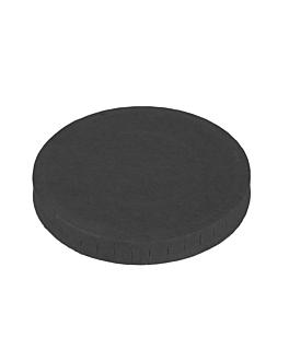 tapas para pequeÑas tarrinas 230 + 18 pe g/m2 Ø6,2 cm negro cartoncillo (1000 unid.)
