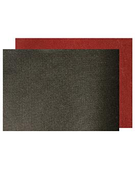 "tovaglietta ""snack duplex"" - ""spundbond"" 80 gr/m2 30x40 cm bordeaux/nero pp (800 unitÀ)"