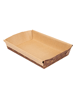 laminated bakery cooking molds 16,8x11x3,6 cm brown paper (402 unit)