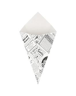 cardboard cones 'thepack times' 250 g 230 gsm 16x27 cm white nano-micro corrugated cardboard (1200 unit)