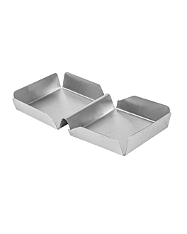 burger box 25,2x13x3 cm silver stainless steel (12 unit)