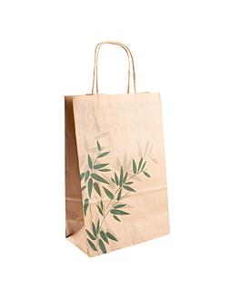 sos bags with handles 'feel green' 80 gsm 20+10x29 cm natural kraft (250 unit)