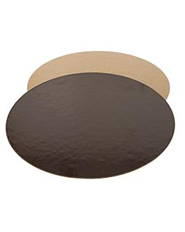 cartone pasticceria doppia faccia 1100 g/m2 Ø 28 cm cioccolato/pralina cartone (100 unitÀ)