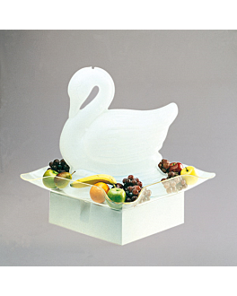 plateau cristal de roche 76x76 cm transparent metacrylate (1 unitÉ)