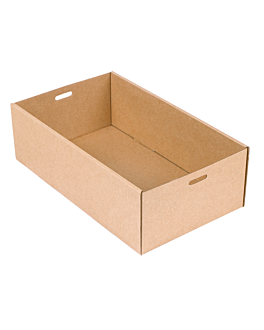 catering boxes xs 375 gsm 25,8x15x8 cm natural kraft (100 unit)