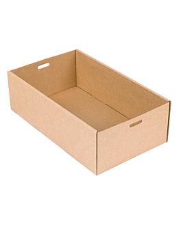 """scatole """"traiteur"""" xs 375 g/m2 25,8x15x8 cm naturale kraft (100 unitÀ)"""