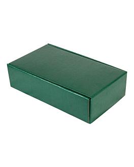30 e. verpackungen 2 flaschen 34x18,5x9 cm grÜn karton (1 einheit)
