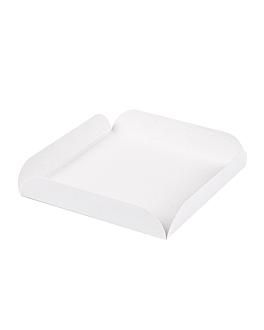 cuadrados con pestaÑas 11x11x2 cm blanco cartÓn (250 unid.)