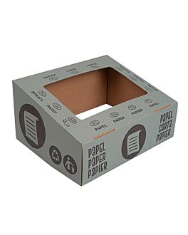 paper lid 38,4x31,1x12 cm blue cardboard (10 unit)