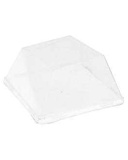 lids for item 215.74 'bionic' 9x9x2,5 cm clear pet (400 unit)
