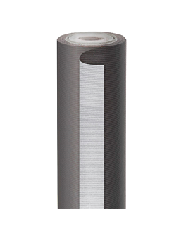 papel regalo 50 m negro-plata 60 g/m2 70 cm kraft verjurado (1 unid.)