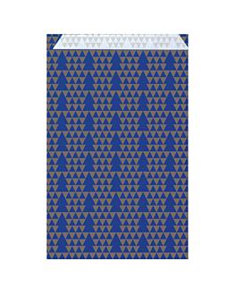 bolsas planas abetos 60 g/m2 26+9x38 cm azul celulosa (250 unid.)