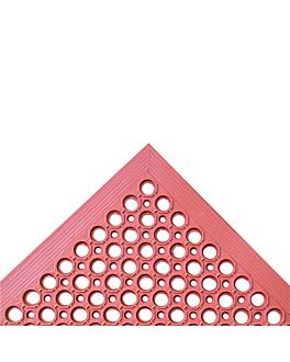 zerbino antifatica 'drainage' 152,4x91,4x1,2 cm rosso gomma (1 unitÀ)